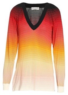 Sonia Rykiel Woman Dégradé Striped Silk Top Multicolor