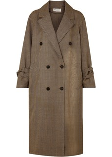 Sonia Rykiel Woman Double-breasted Prince Of Wales Checked Wool Coat Camel