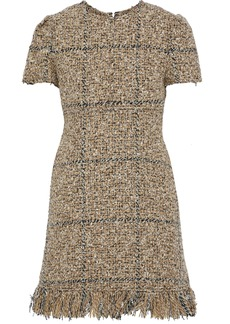 Sonia Rykiel Woman Fringed Tweed Mini Dress Sand