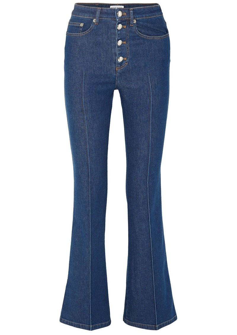 Sonia Rykiel Woman High-rise Flared Jeans Mid Denim