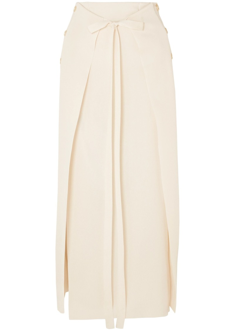 Sonia Rykiel Woman Layered Stretch-knit Maxi Skirt Cream