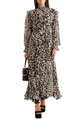 Sonia Rykiel Woman Leopard-print Silk-chiffon Midi Dress Animal Print