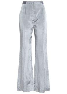 Sonia Rykiel Woman Pinstriped Satin-twill Wide-leg Pants Stone