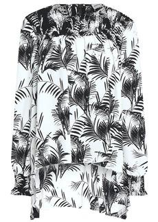 Sonia Rykiel Woman Printed Crepe De Chine Top Black