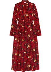 Sonia Rykiel Woman Printed Silk Crepe De Chine Dress Red