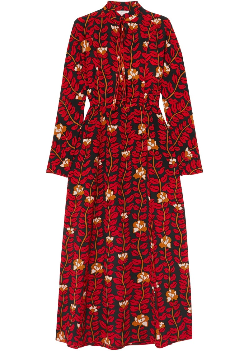 Sonia Rykiel Woman Printed Silk Crepe De Chine Dress Red