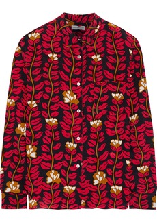 Sonia Rykiel Woman Printed Silk Crepe De Chine Shirt Red