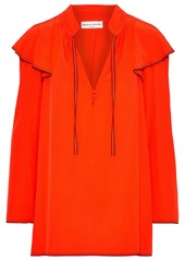 Sonia Rykiel Woman Ruffled Washed-silk Blouse Red