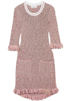 Sonia Rykiel Woman Sequin-embellished Cotton-blend Tweed Mini Dress Baby Pink