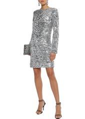 Sonia Rykiel Woman Sequined Tulle Mini Dress Silver
