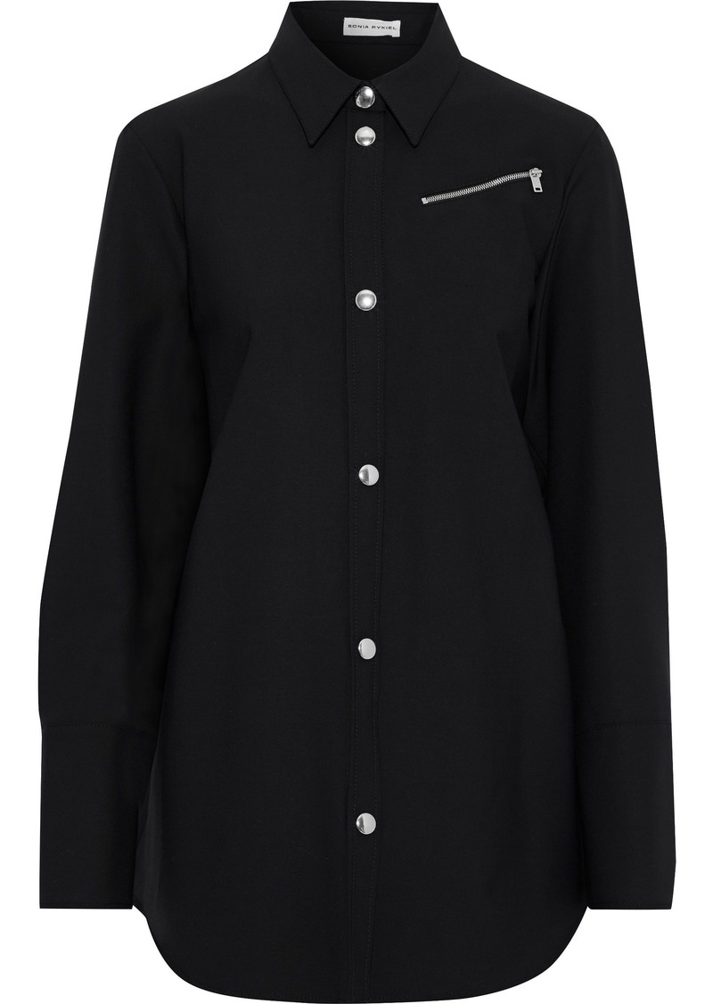 Sonia Rykiel Woman Stretch-twill Shirt Black
