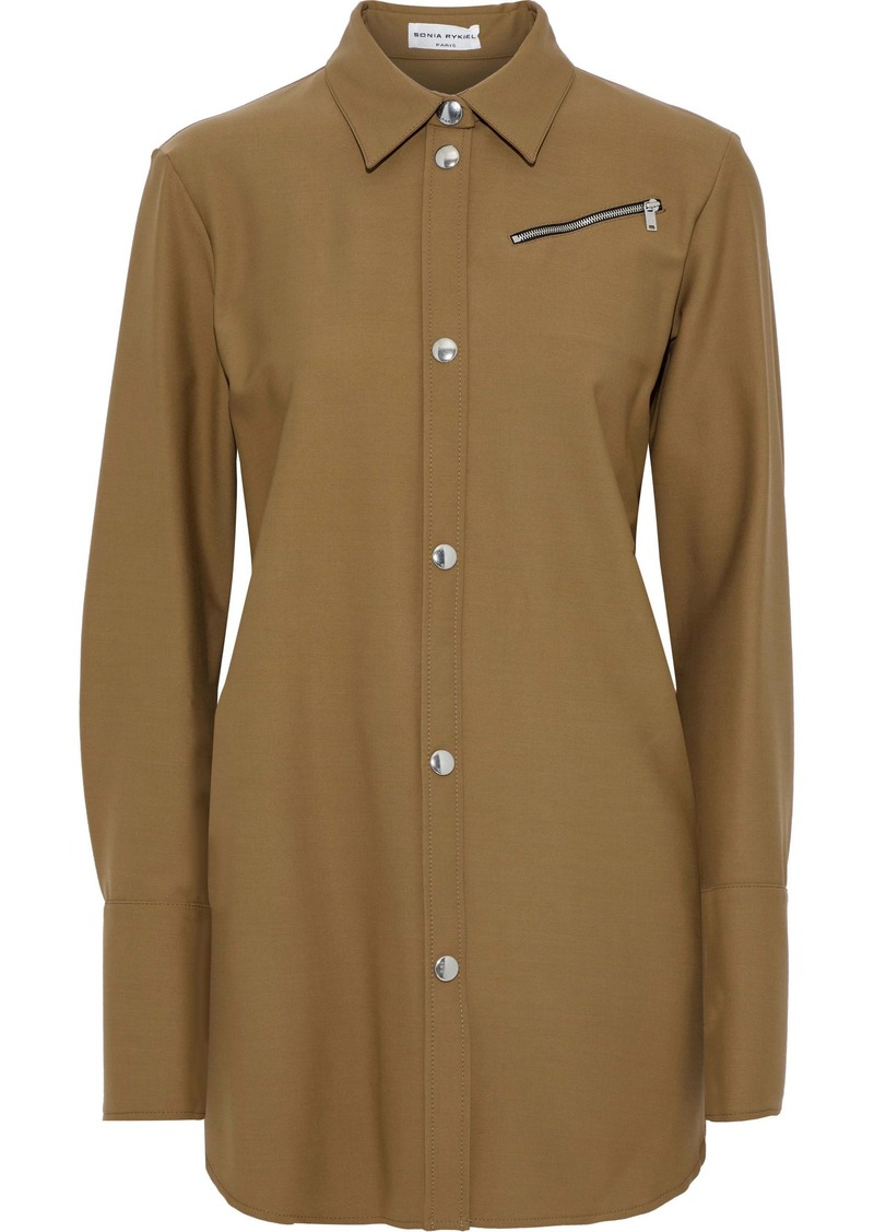 Sonia Rykiel Woman Stretch-twill Shirt Camel