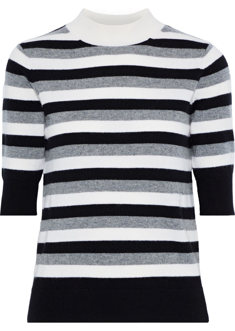 Sonia Rykiel Woman Striped Cashmere Top Gray