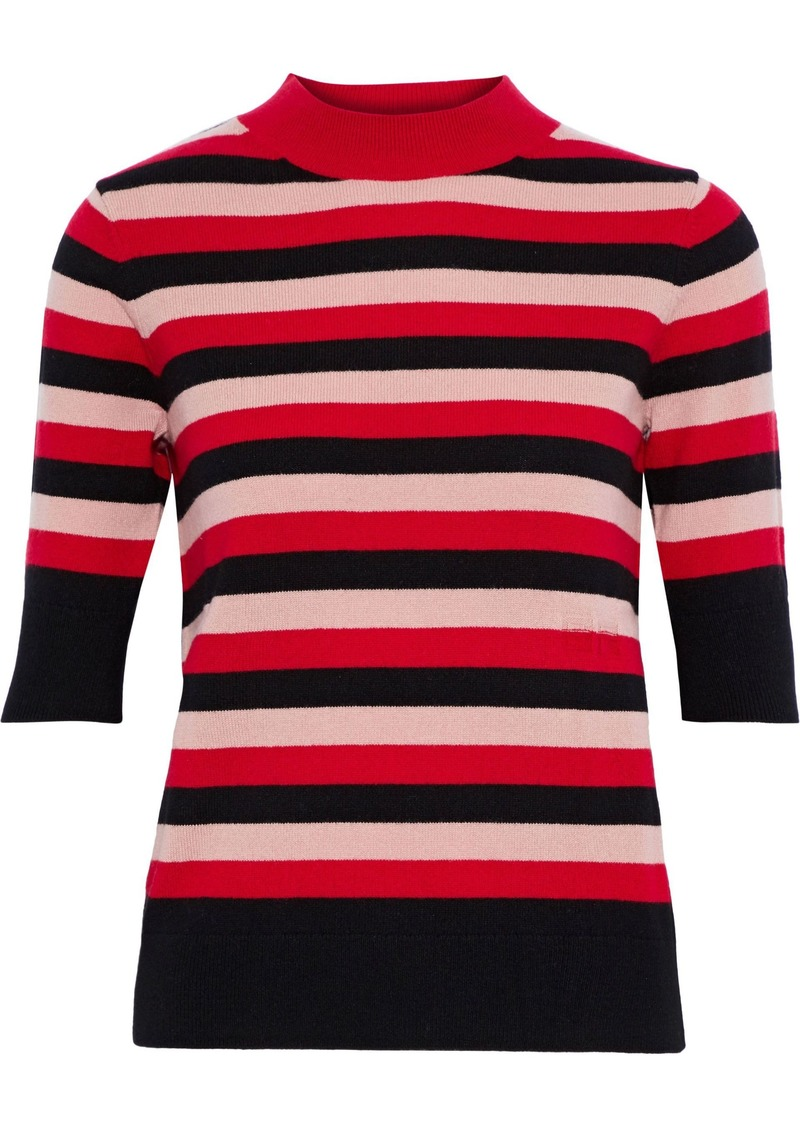 Sonia Rykiel Woman Striped Cashmere Top Red