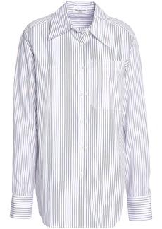 Sonia Rykiel Woman Striped Cotton-poplin Shirt White