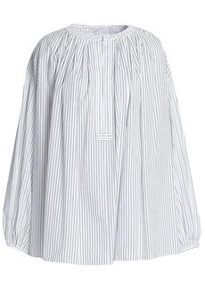 Sonia Rykiel Woman Striped Cotton-poplin Tunic White