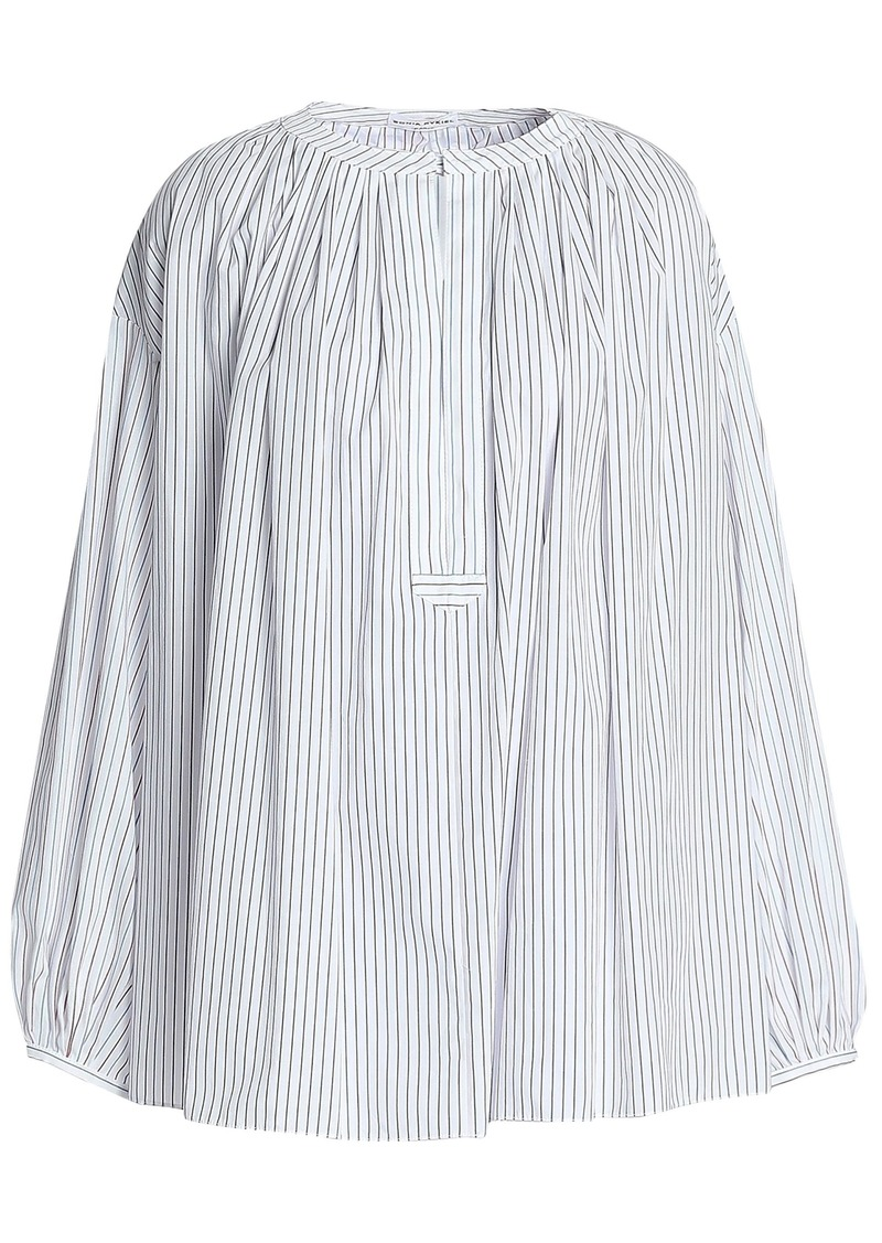 Sonia Rykiel Woman Striped Cotton-poplin Tunic White