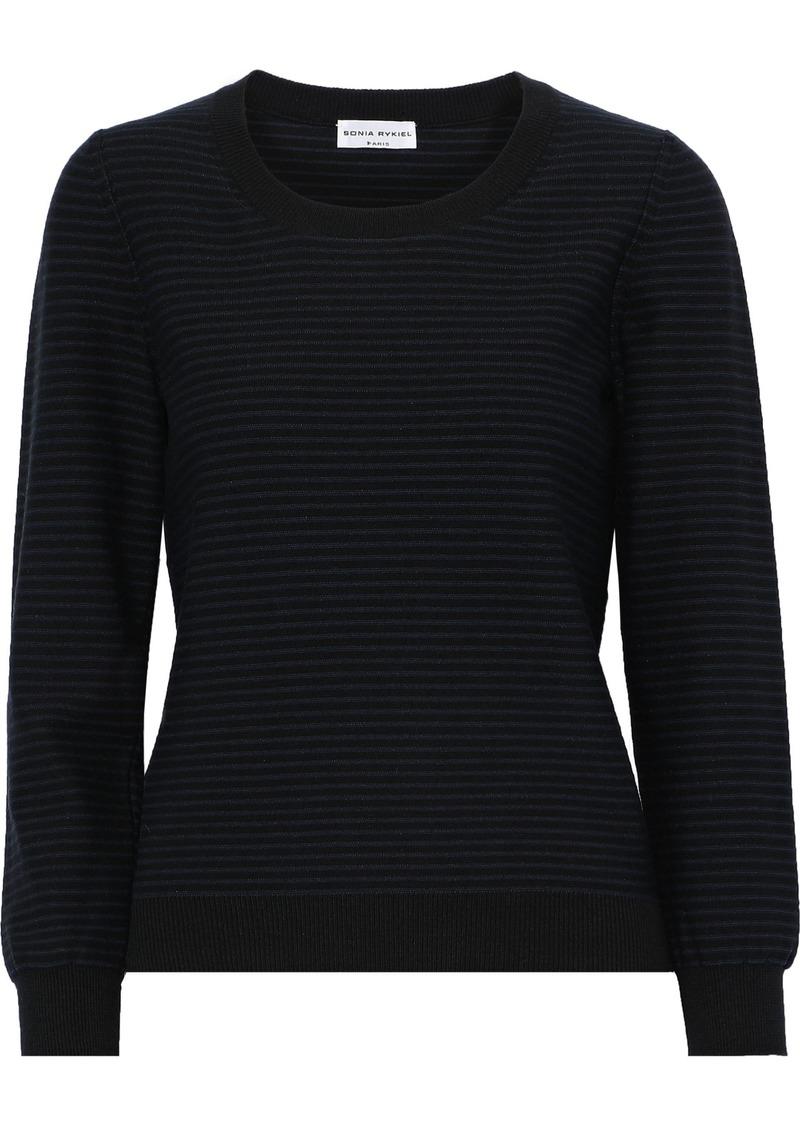 Sonia Rykiel Woman Striped Intarsia-knit Sweater Black
