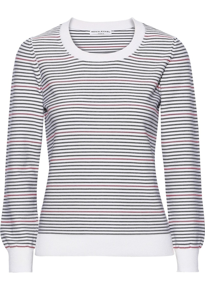 Sonia Rykiel Woman Striped Intarsia-knit Sweater White