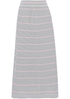 Sonia Rykiel Woman Striped Stretch-knit Midi Skirt White