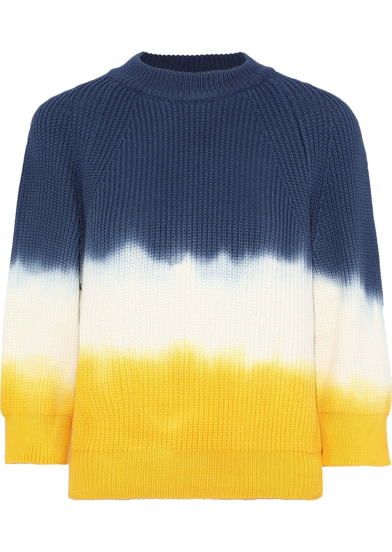 Sonia Rykiel Woman Tie-dyed Cotton-blend Sweater Storm Blue