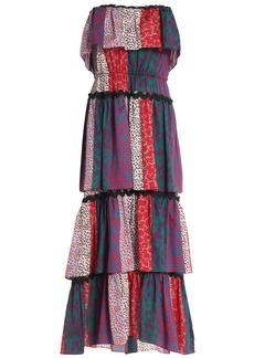 Sonia Rykiel Woman Tiered Printed Cotton-jersey Midi Dress Red