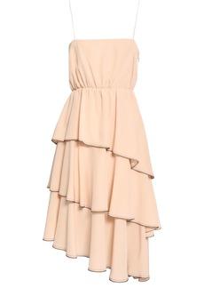 Sonia Rykiel Woman Tiered Silk Crepe De Chine Dress Pastel Pink