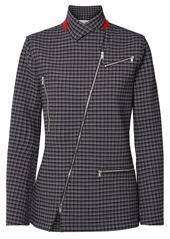 Sonia Rykiel Woman Zip-detailed Checked Tweed Jacket Black