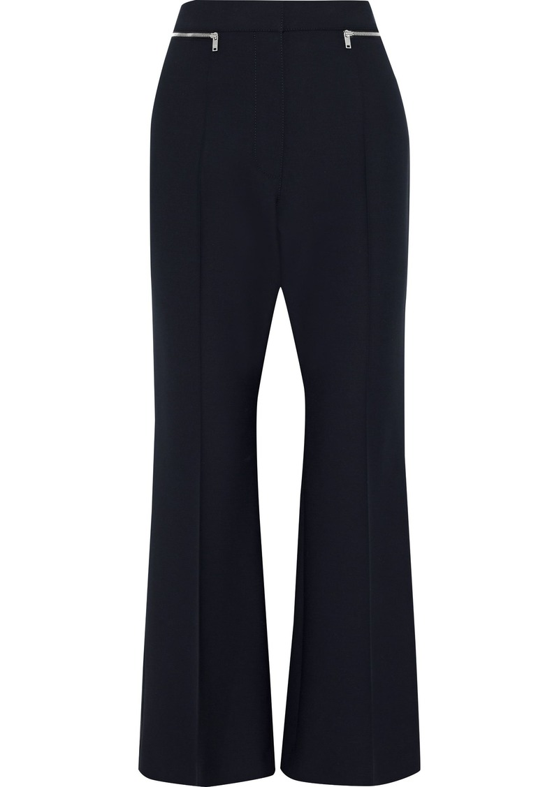Sonia Rykiel Woman Zip-embellished Stretch-twill Flared Pants Navy
