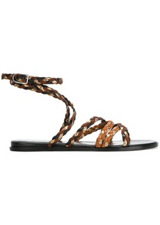 Sonia Rykiel woven side buckle sandals