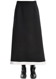 Sonia Rykiel Stretch Wool Knit Midi Skirt