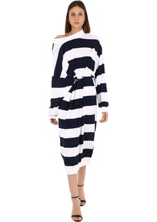 Sonia Rykiel Striped Cotton & Wool Blend Knit Dress