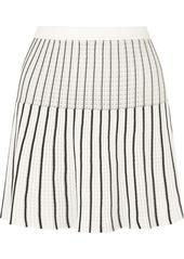 Sonia Rykiel Striped Ribbed-knit Cotton-blend Mini Skirt