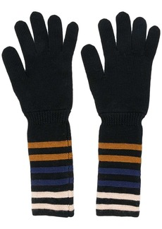 Sonia Rykiel striped cuff gloves