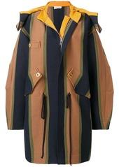 Sonia Rykiel striped hooded coat