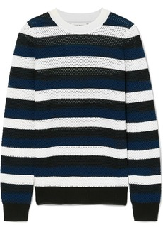 Sonia Rykiel Striped Open-knit Wool-blend Top
