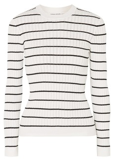Sonia Rykiel Striped Ribbed-knit Cotton-blend Top