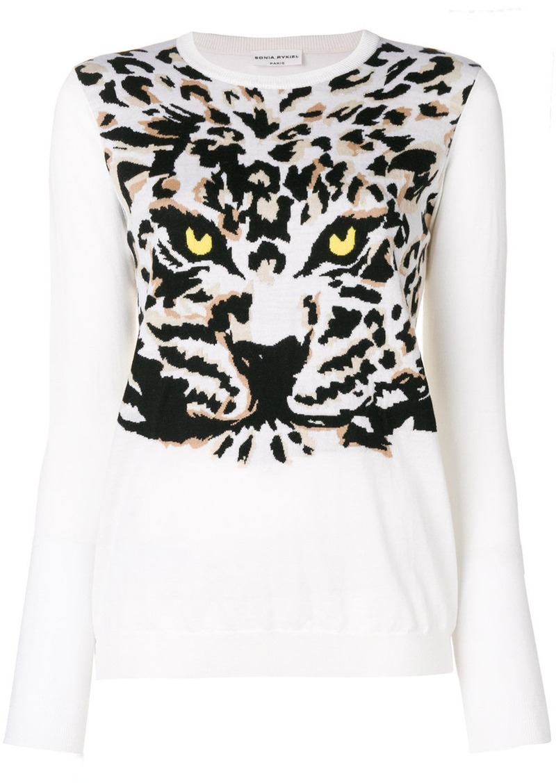 Sonia Rykiel Tiger knit jumper