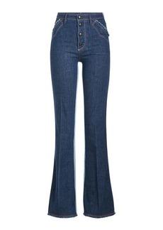 Sonia Rykiel Two-Tone Flared Jeans