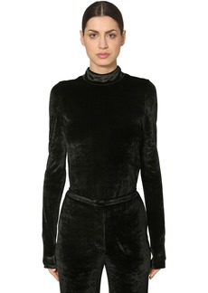 Sonia Rykiel Velvet Turtleneck Top