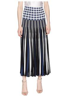 Sonia Rykiel Vichy Plaid Pleats Skirt