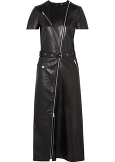 Sonia Rykiel Zip-embellished Leather Midi Dress