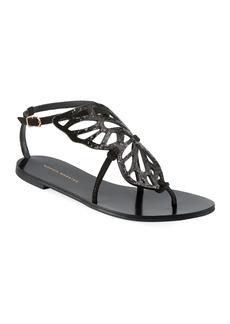 Sophia Webster Bibi Butterfly Flat Sandals  Black