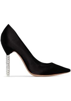 Sophia Webster black Coco Crystal 110 silk pumps
