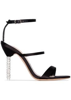 Sophia Webster Black Rosalind Crystal 100 Satin Sandals