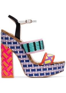 Sophia Webster Celia 140 woven-leather platform sandals