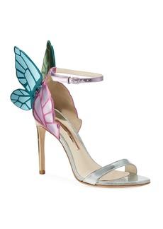 Sophia Webster Chiara Butterfly Wing Multi Metallic Leather Sandals
