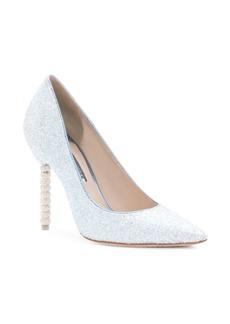 Sophia Webster Coco Crystal Heel Glitter Pumps