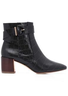 Sophia Webster croc embossed ankle boots