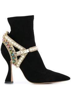 Sophia Webster crystal-embellished ankle boots